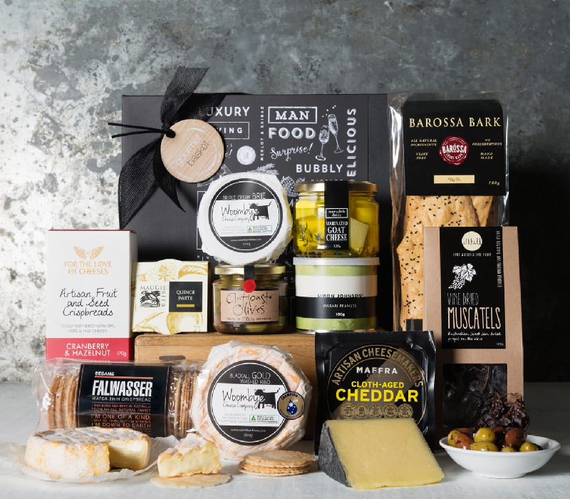 Father's Day Gifts - The Entertainer Cheese Hamper from Gourmet Basket